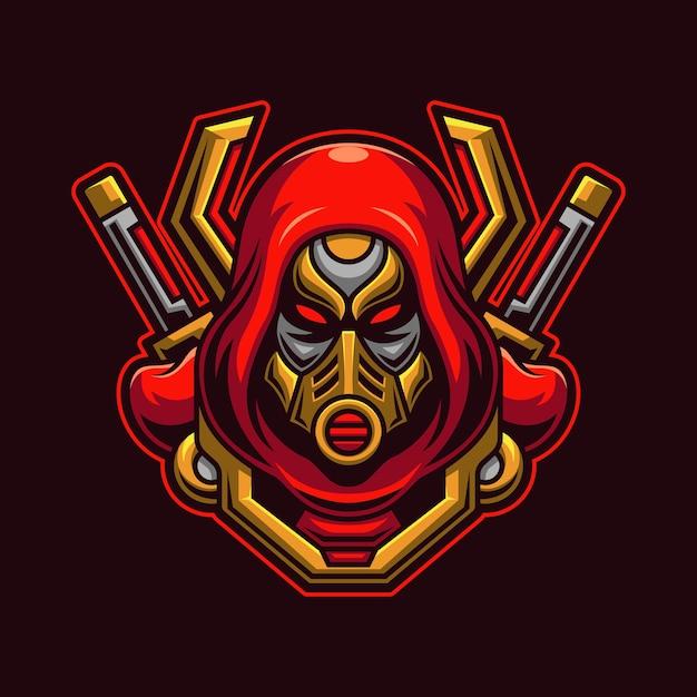 Голова убийцы с концепцией маски Premium векторы