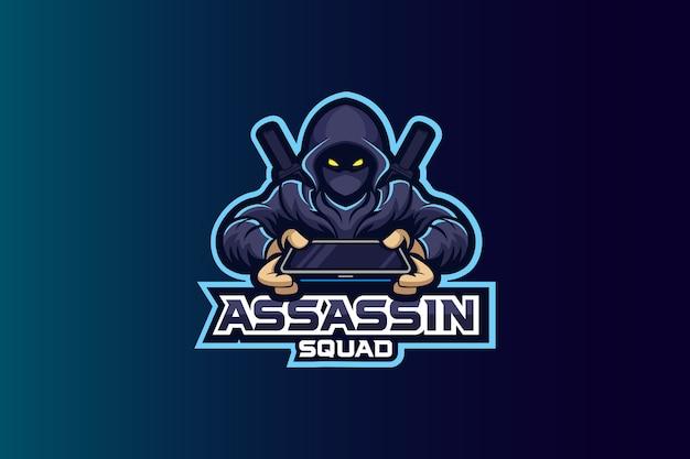 Assassin squad esport logo Premium Vector