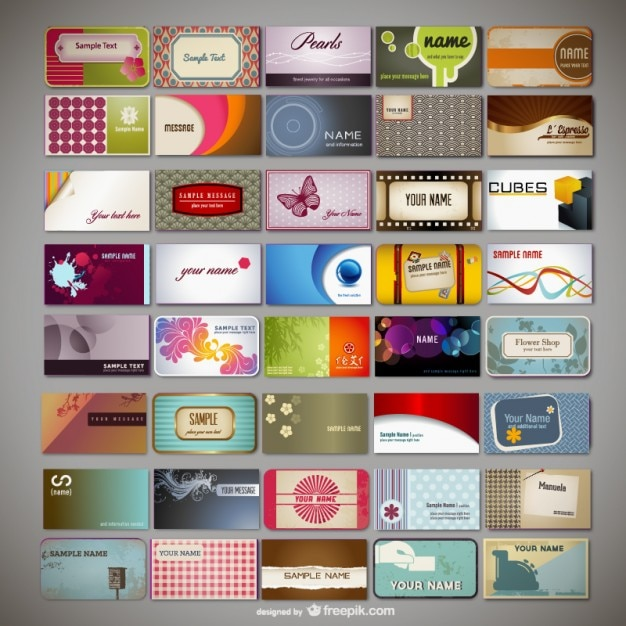 Assorted business cards templates vector free download assorted business cards templates free vector reheart