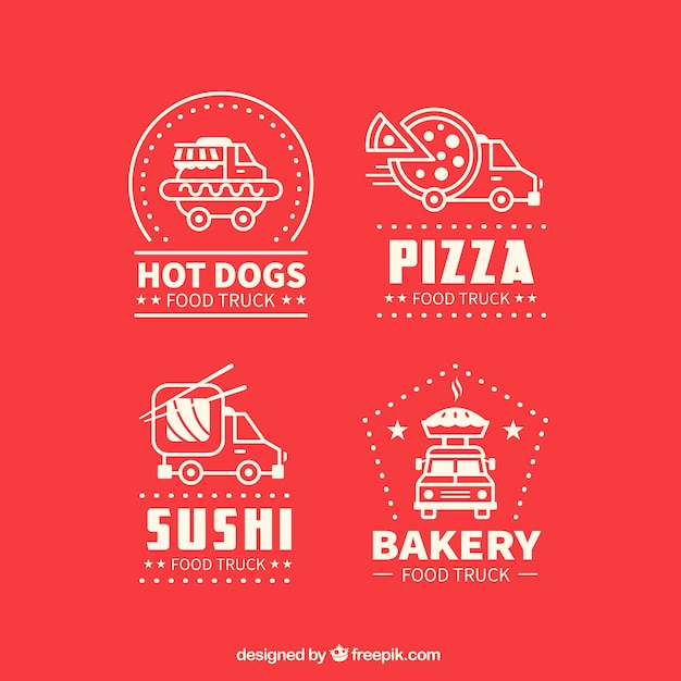 Assorted food truck logos