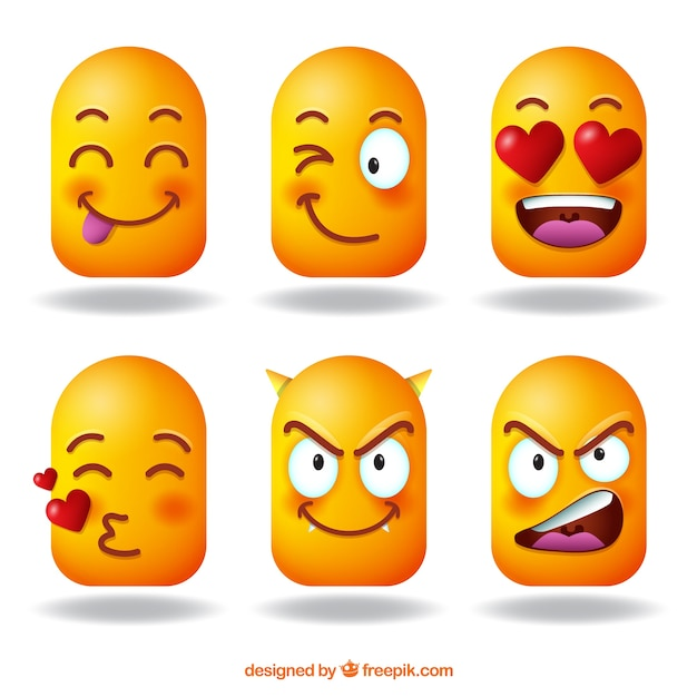 Assortment of 3d emojis Vector | Free Download