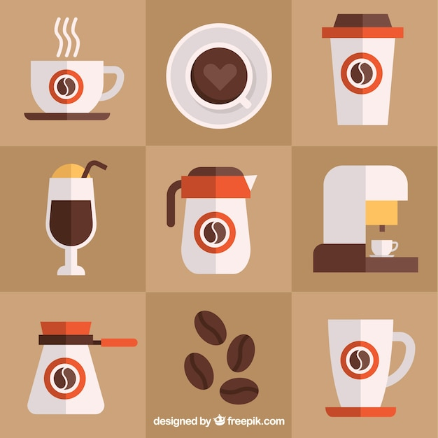 Assortment of coffee accessories