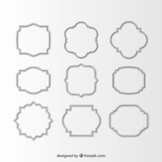 Assortment of elegant decorative frames Vector   Free Download