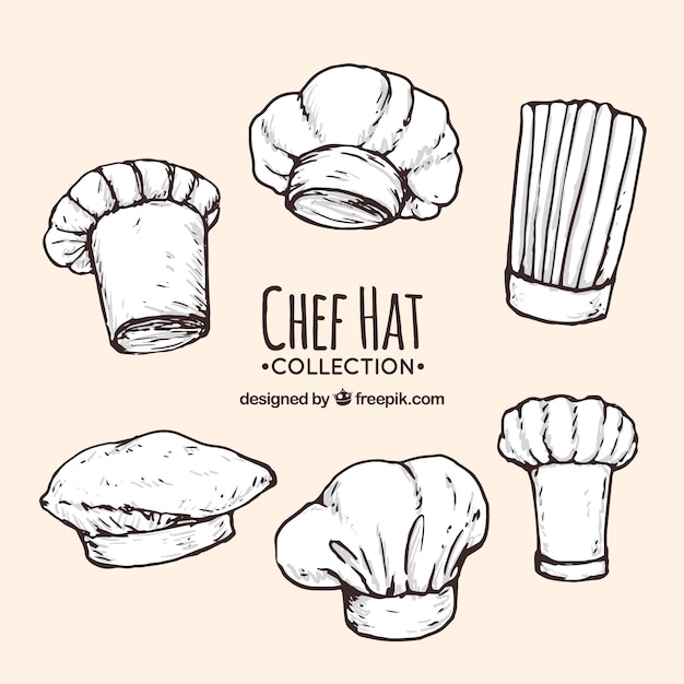 assortment of hand drawn chef hats vector free download
