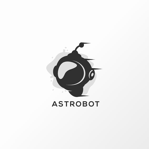 Astrobot дизайн логотипа векторная иллюстрация готова к использованию Premium векторы