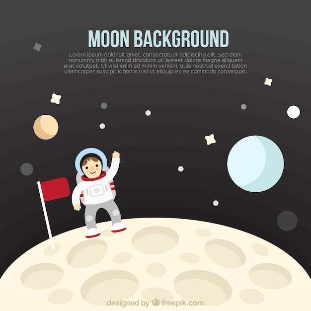 astronaut on moon earth background - photo #28