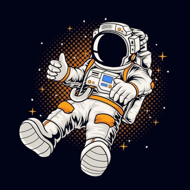 Astronaut boy illustration Premium Vector