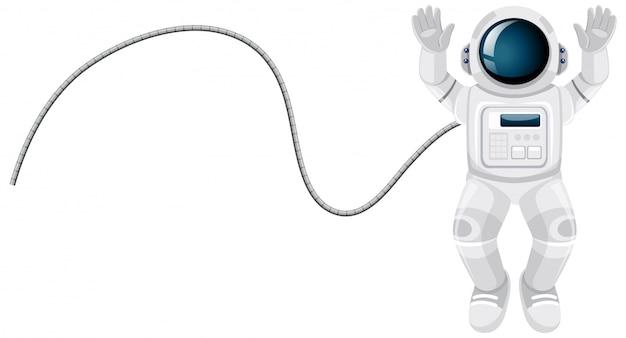 Cartone animato astronauta su sfondo bianco Vettore gratuito