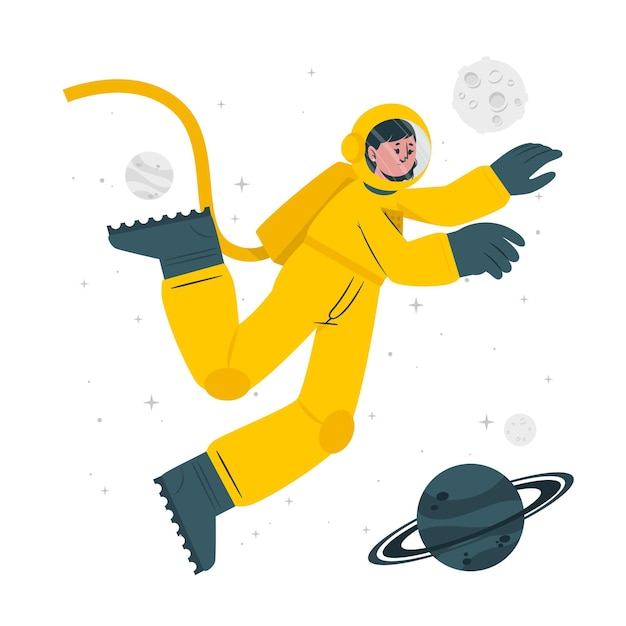 Astronaut concept illustration Free Vector