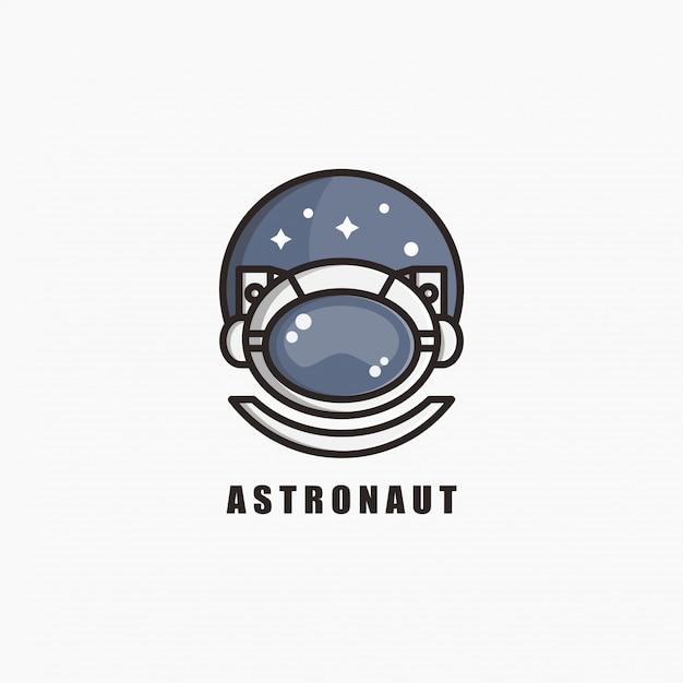 Астронавт логотип дизайн шаблона. иллюстрации. абстрактные астронавт веб-иконки и логотип. Premium векторы