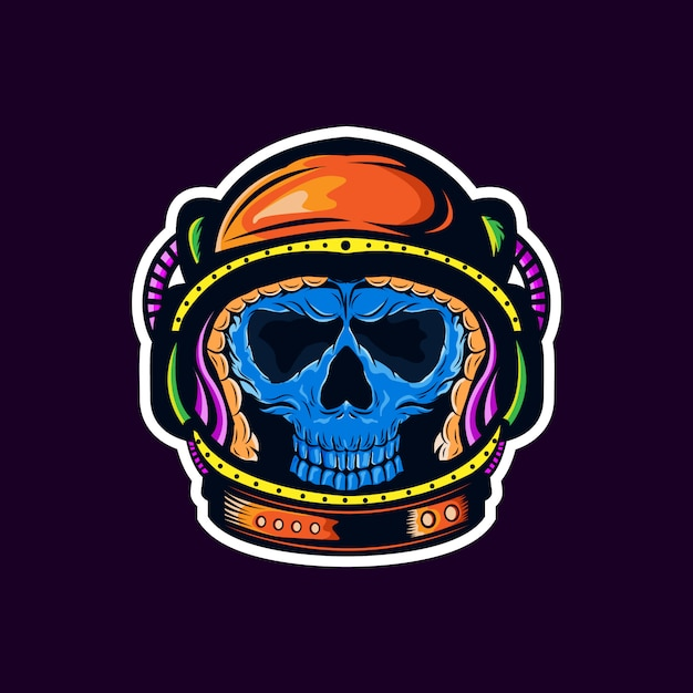 Astronaut sticker Premium Vector
