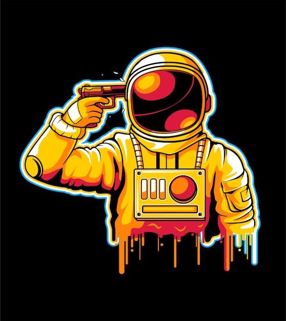 宇宙飛行士の自殺 Premiumベクター