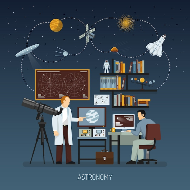 Astronomy design concept Free Vector