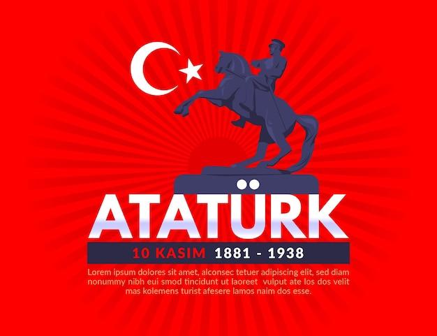 Illustrazione del memorial day di atatürk Vettore gratuito
