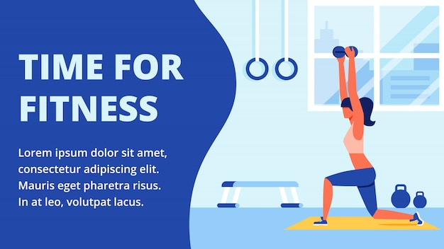 Athlete in sportswear engaged in fitness room Premium Vector