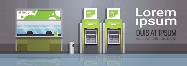 Atm automatic teller machine Premium Vector
