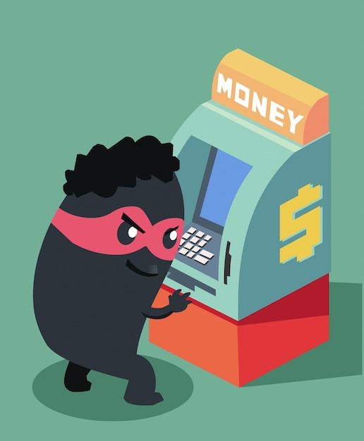 Download Monetary Hacker Vector Fraud Atm Premium