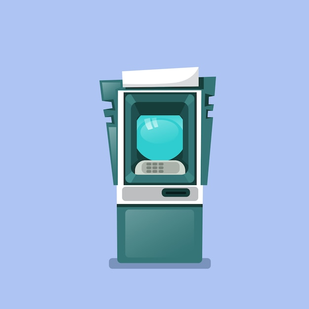 Atm machine icon isolated terminal for cash withdraw Premium Vector