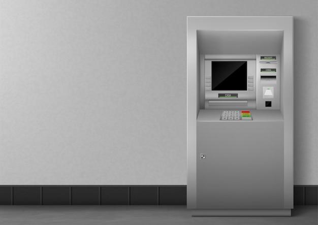Банкомат с пустым черным дисплеем Бесплатные векторы