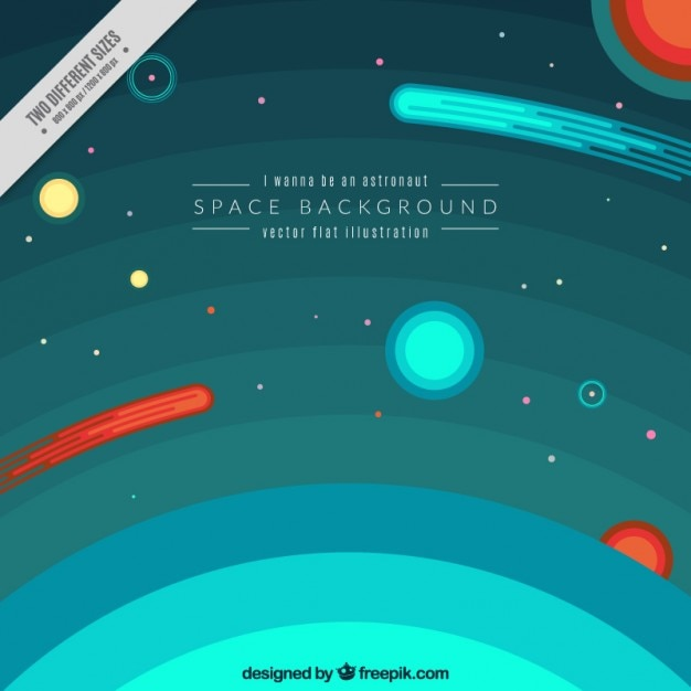 Atmosphere and space background Free Vector