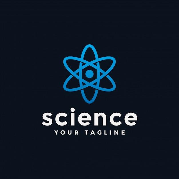 Atom science lab logo  template Premium Vector