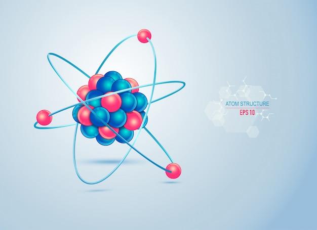 Atom structure Premium Vector