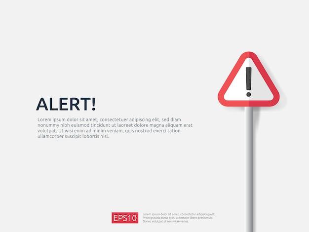 Attention warning alert sign banner Premium Vector