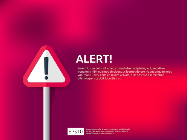 Attention warning alert sign banner Premium Vector