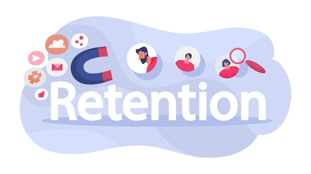 Attract the audience as marketing strategy. traffic increase. Premium Vector