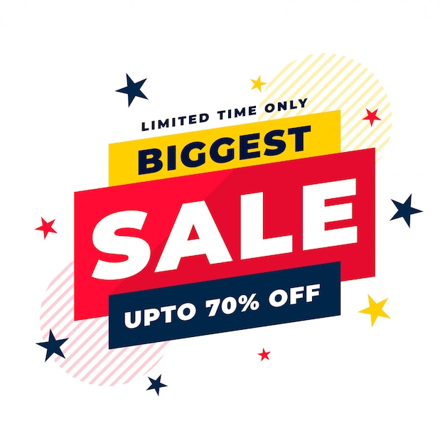 Attractive biggest sale and discount background template Free Vector