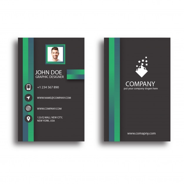 Attractive business card design template vector premium download attractive business card design template premium vector colourmoves Gallery