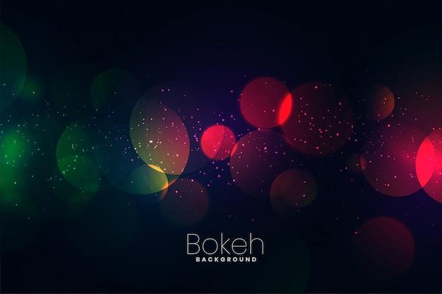 Attractive dark neon lights bokeh background Free Vector