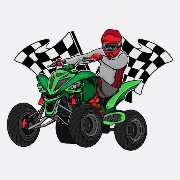 Atv race championship Premium Vector