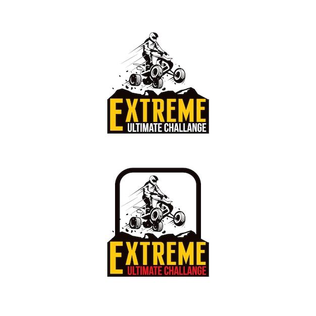 Atv sport extreme logo Premium Vector