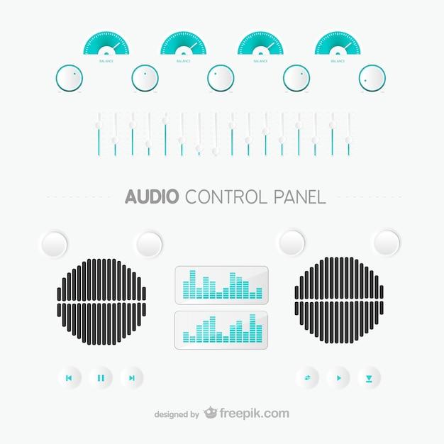 Audio control panel Free Vector