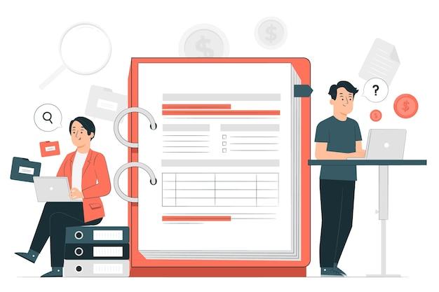 Audit concept illustration Free Vector
