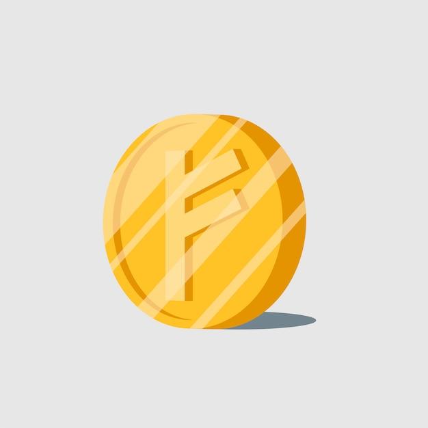 Электронный символ наличности auroracoin cryptocurrency Бесплатные векторы