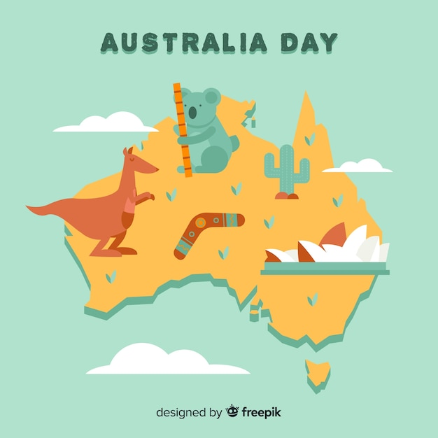 Australia day background Free Vector