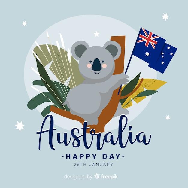 Australia day background Free Vector