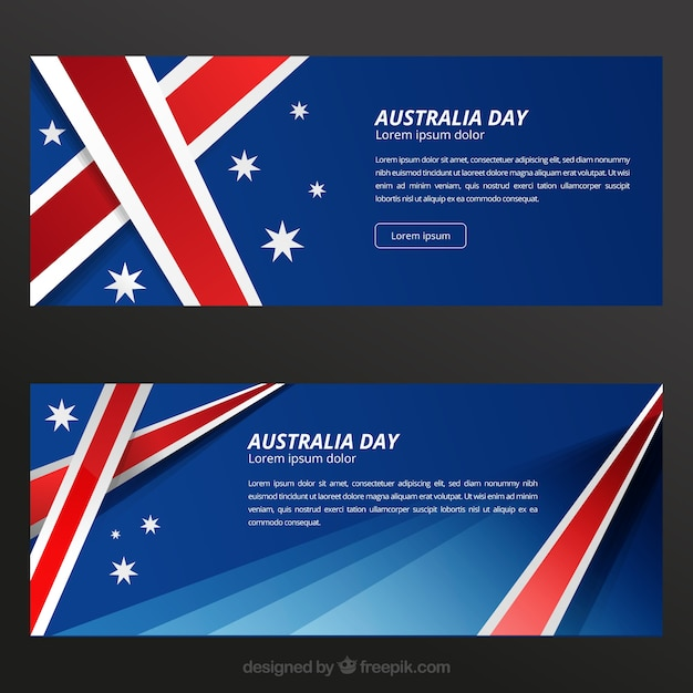 Australia day banners template vector free download australia day banners template free vector reheart Images