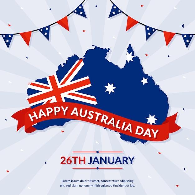 Australia day in flat design Free Vector