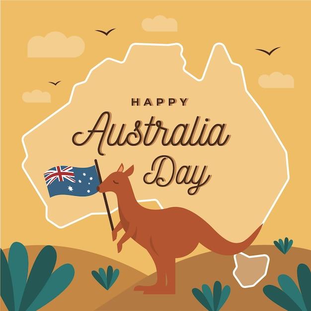 Giorno dell'australia in design piatto Vettore gratuito
