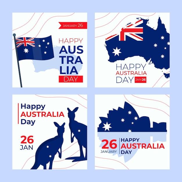 Modello di biglietti di auguri di australia day Vettore gratuito