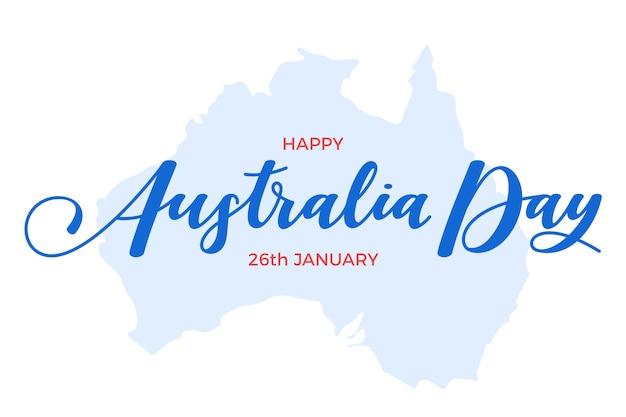 Lettering del giorno dell'australia Vettore gratuito