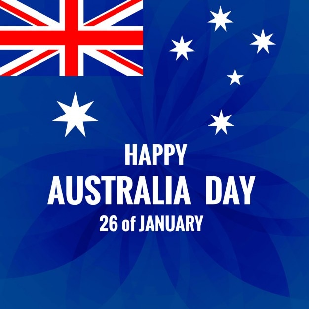 Australia day modern background vector free download for Australia day decoration