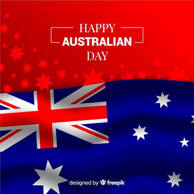 Australia day in realistic design Free Vector