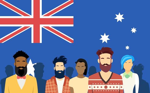 Australia group people Premium Vector