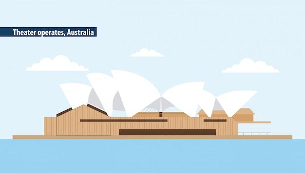 Australia opera theater Free Vector