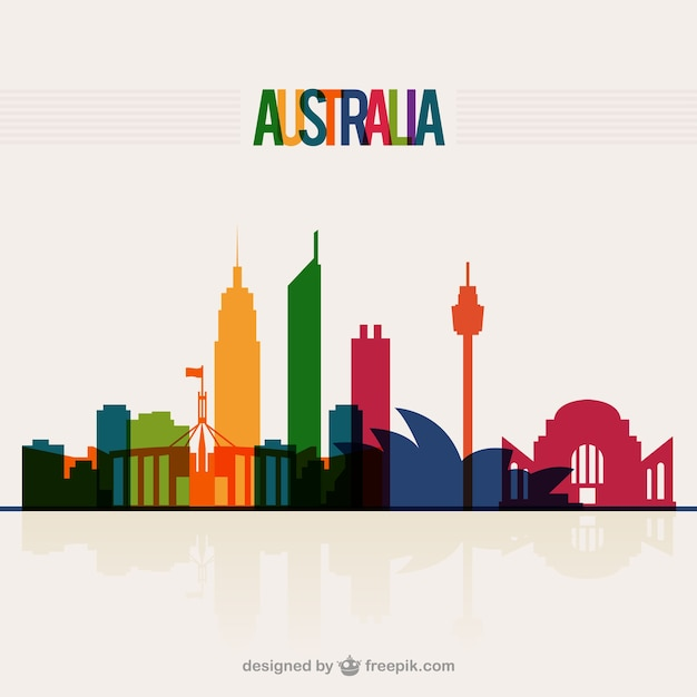 Australia skyline Vector | Free Download