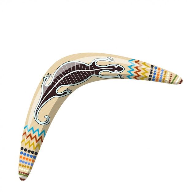 Australian boomerang. cartoon boomerang tribal Premium Vector